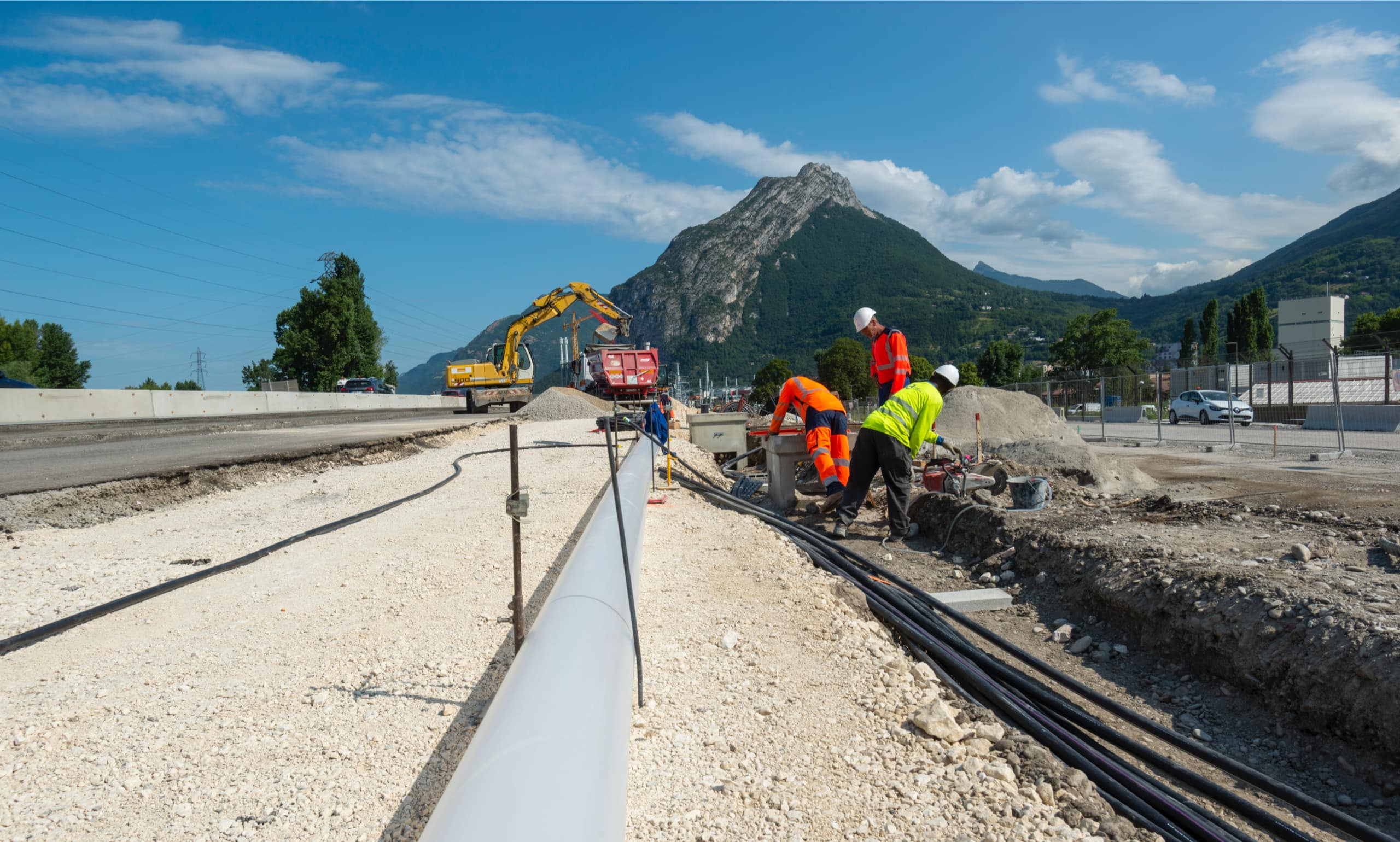 travaux sur le secteur du pont du Vercors