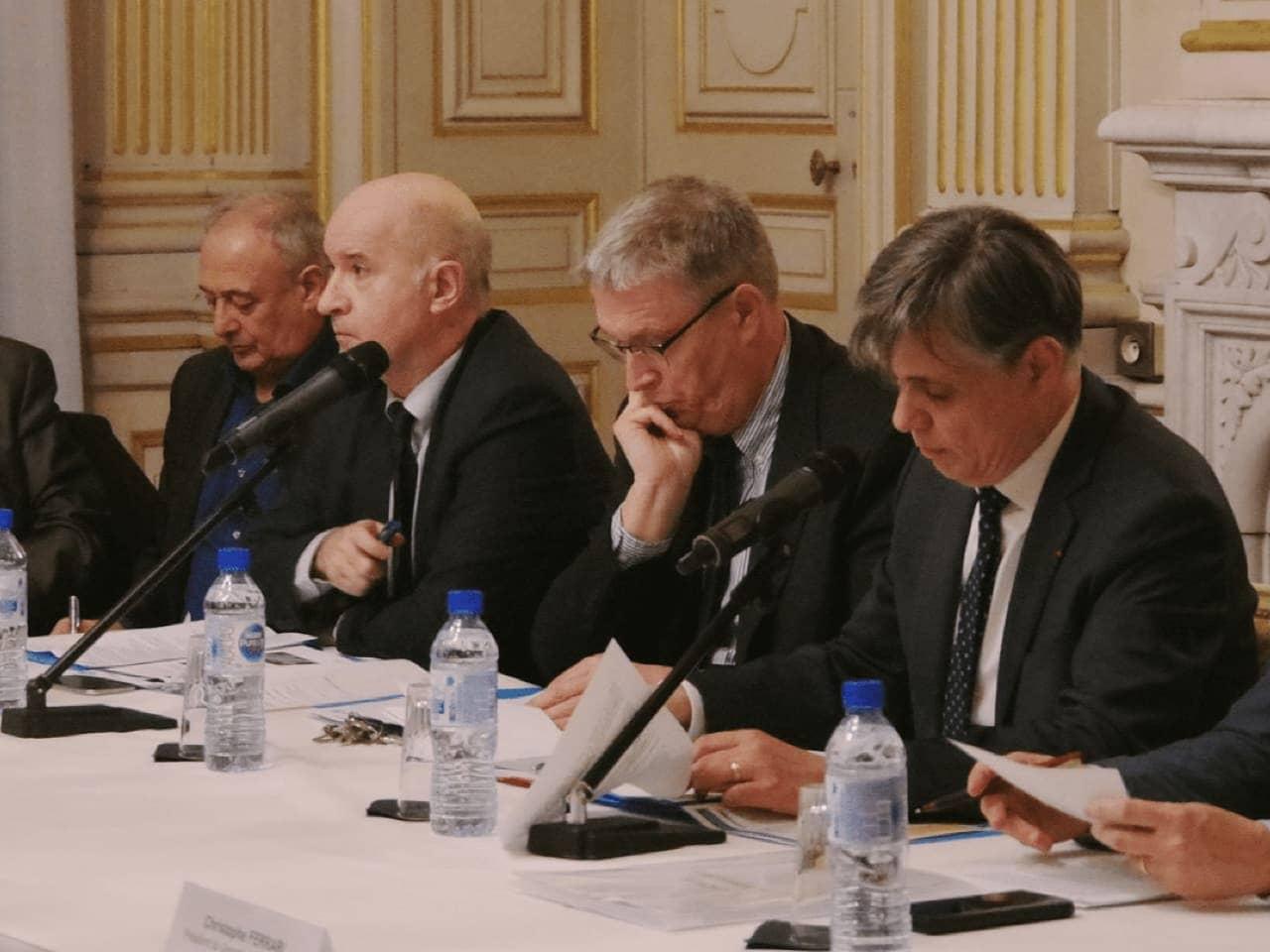 Les quatre partenaires du projet pendant la conférence de presse