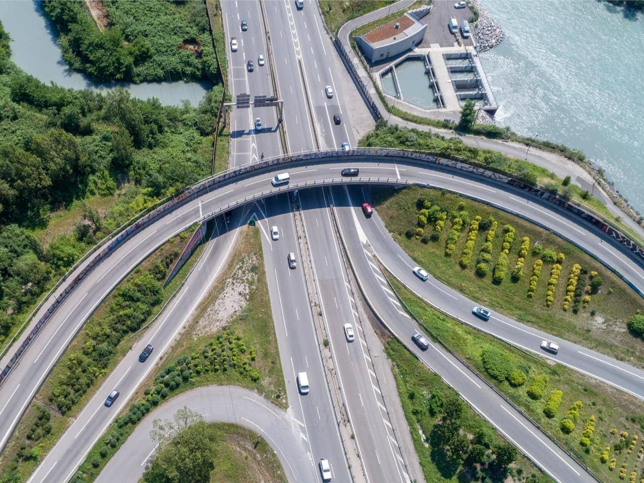 échangeur de l'autoroute A480-Rondeau