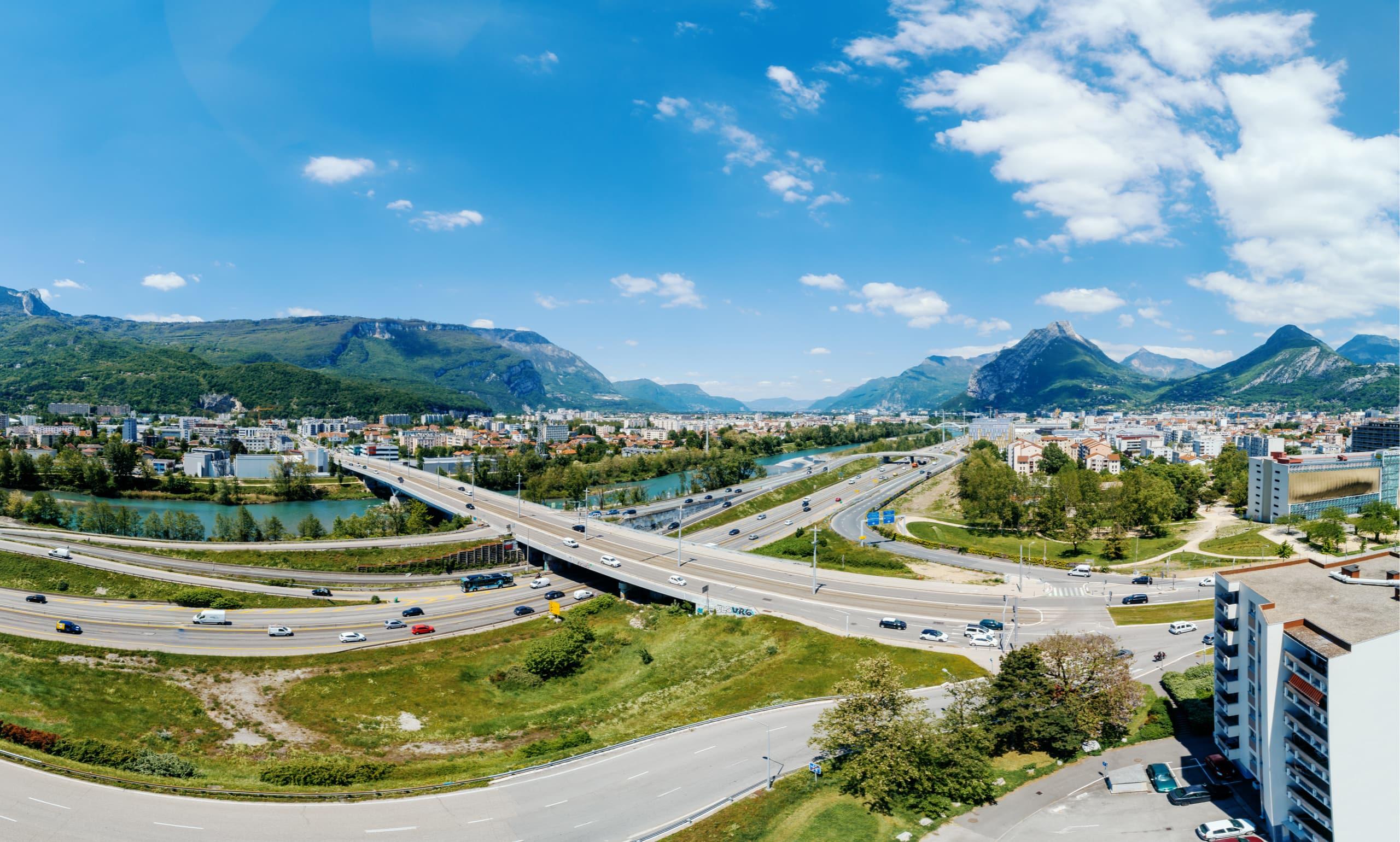 Grenoble, quartier Catane vu du ciel