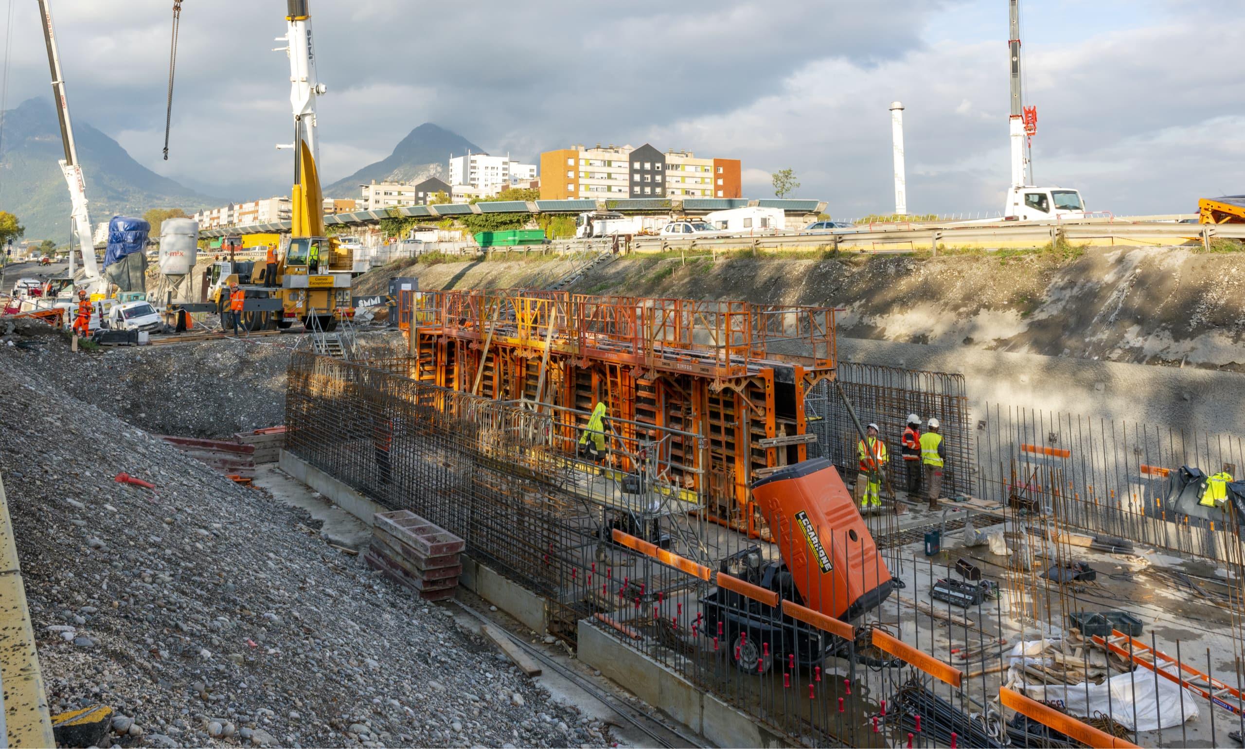 Travaux sur le secteur Louise Michel pour le projet A480-Rondeau à Grenoble