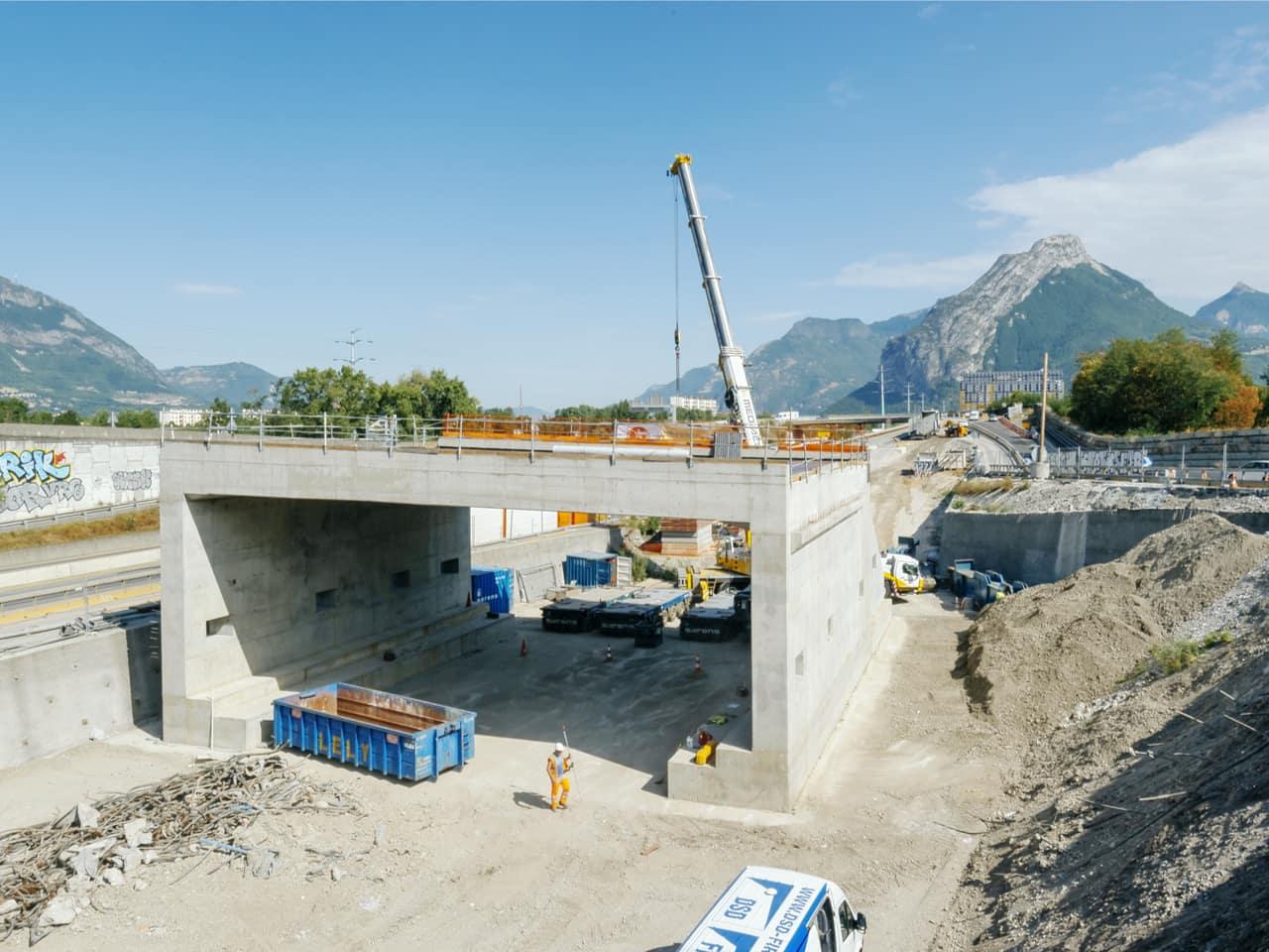 nouveau tablier et piédroits pour le pont de Catane à Grenoble
