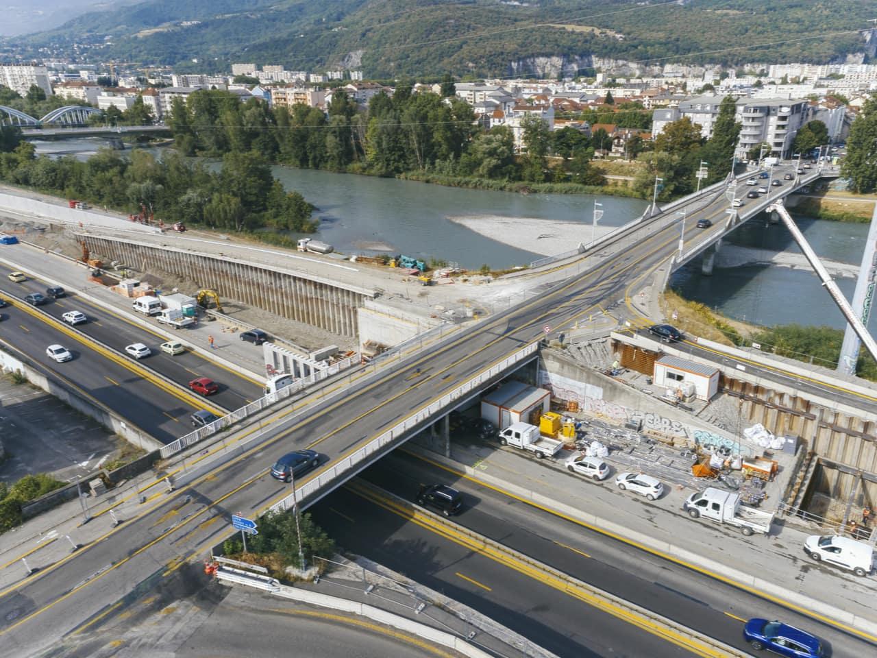 Vue du pont du Vercors et sa nouvelle bretelle