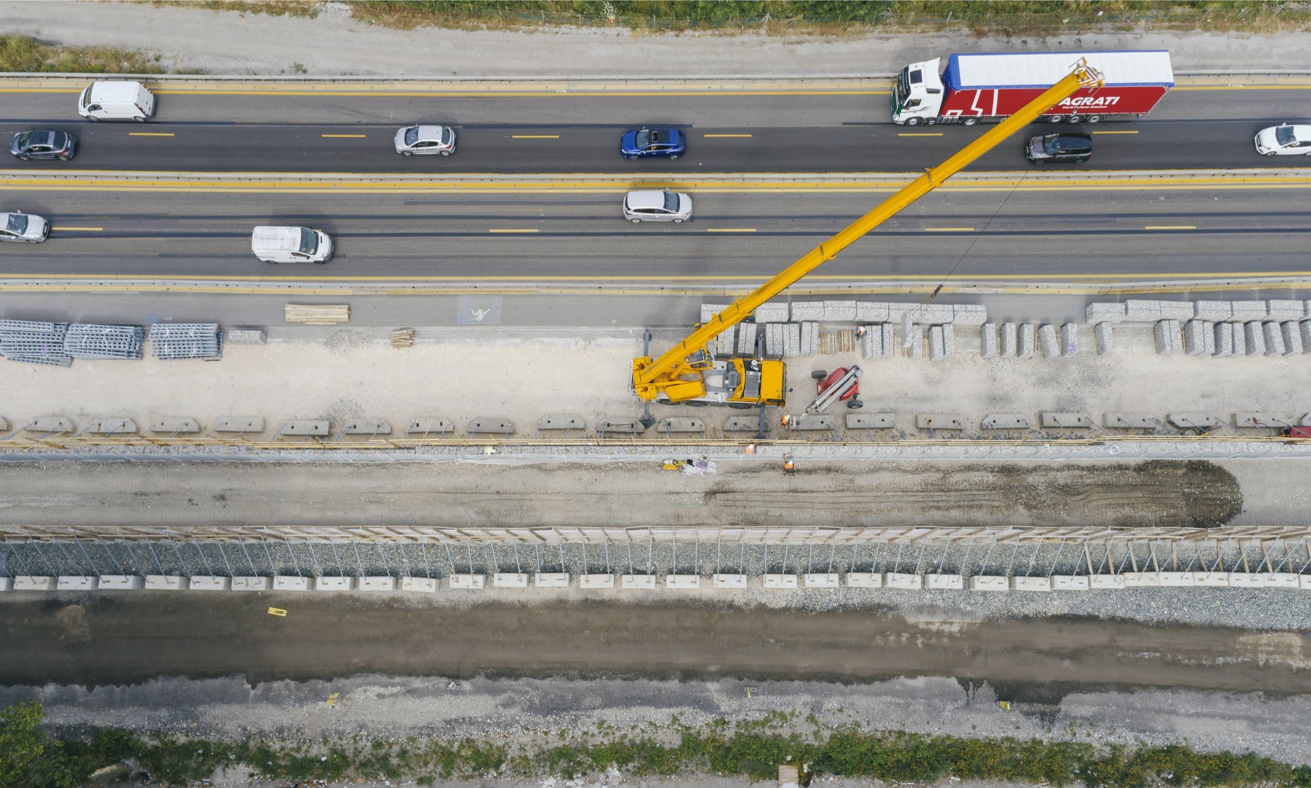 construction d'un mur acoustique le long de l'A480 à Grenoble