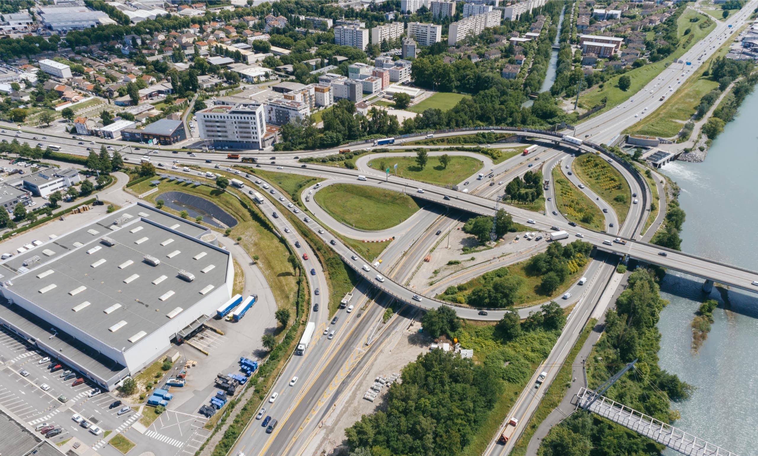 secteur Rondeau et nationale N87 vue du ciel