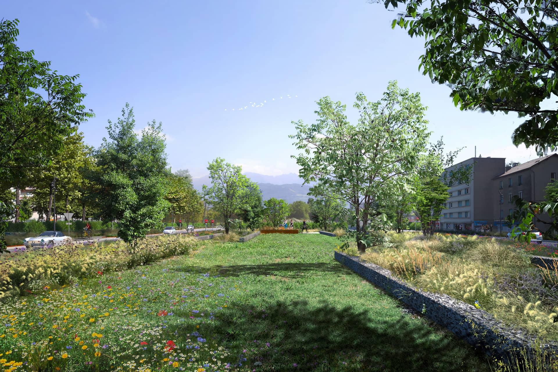 Dalle paysagère pour le nouveau Rondeau à Grenoble