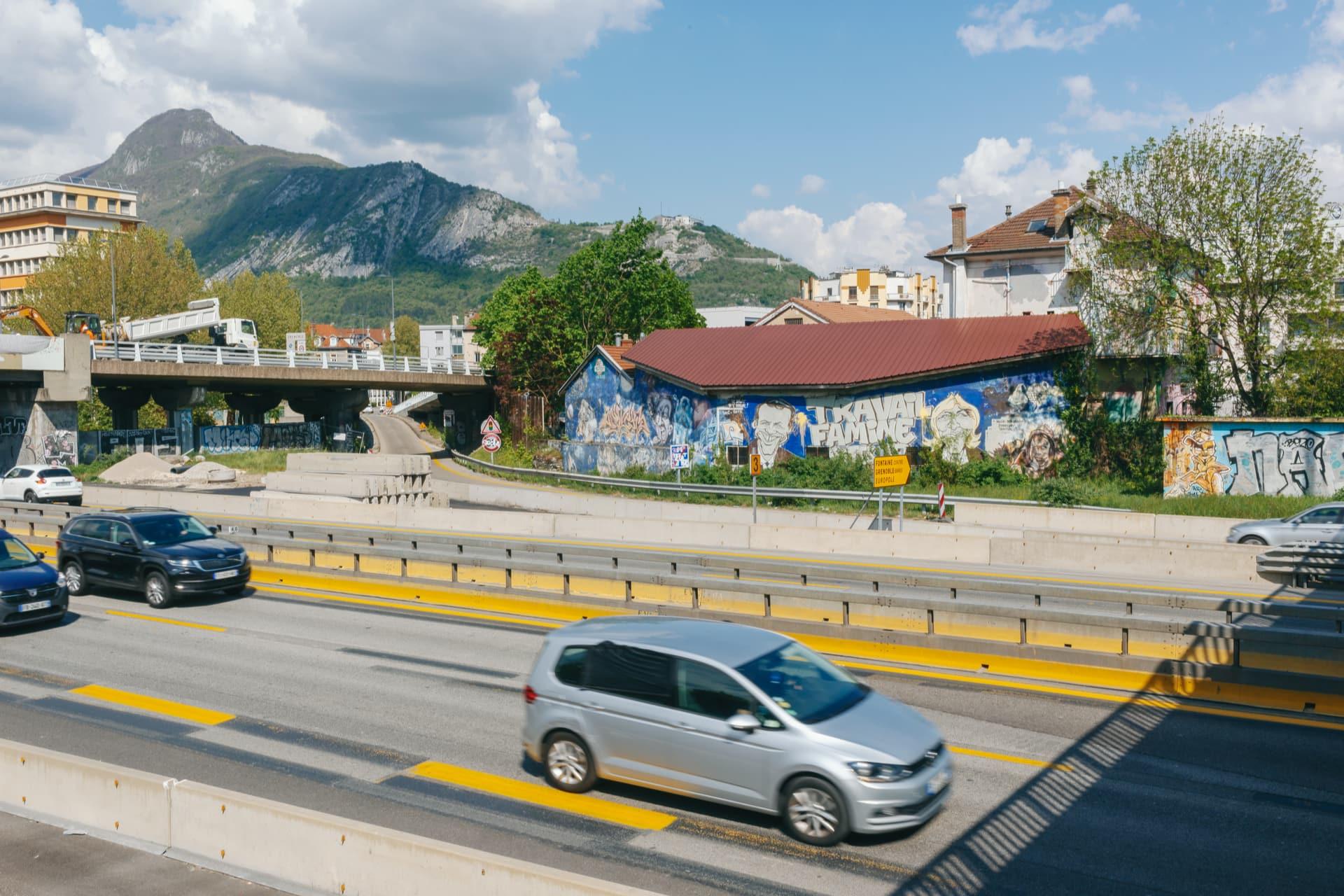 autoroute A480 près du pont de Vercors à Grenoble