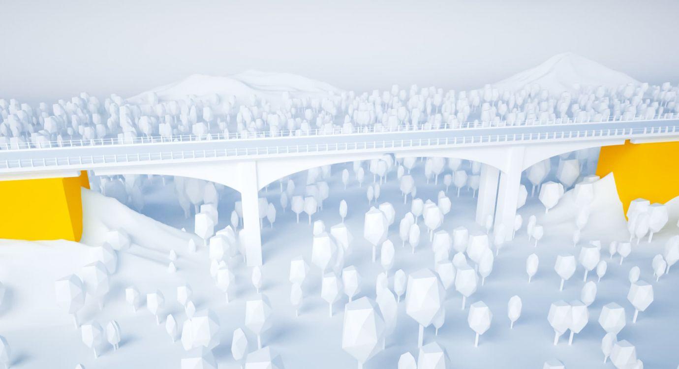 Illustration glossaire APRR : Culée d'un pont