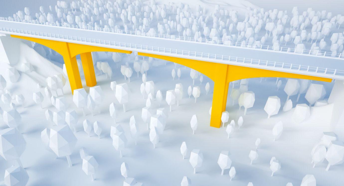 Illustration glossaire APRR : Pile de pont