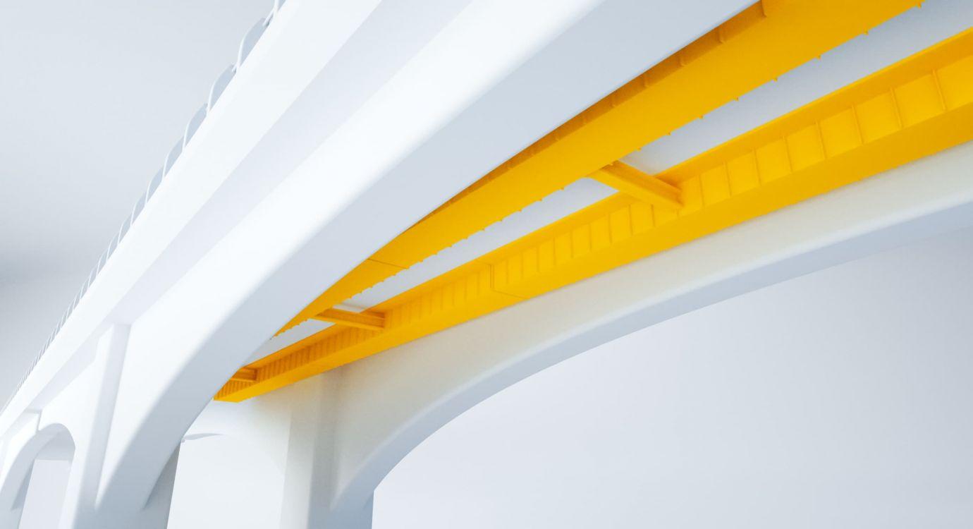 Illustration glossaire APRR : Tablier mixte d'un pont