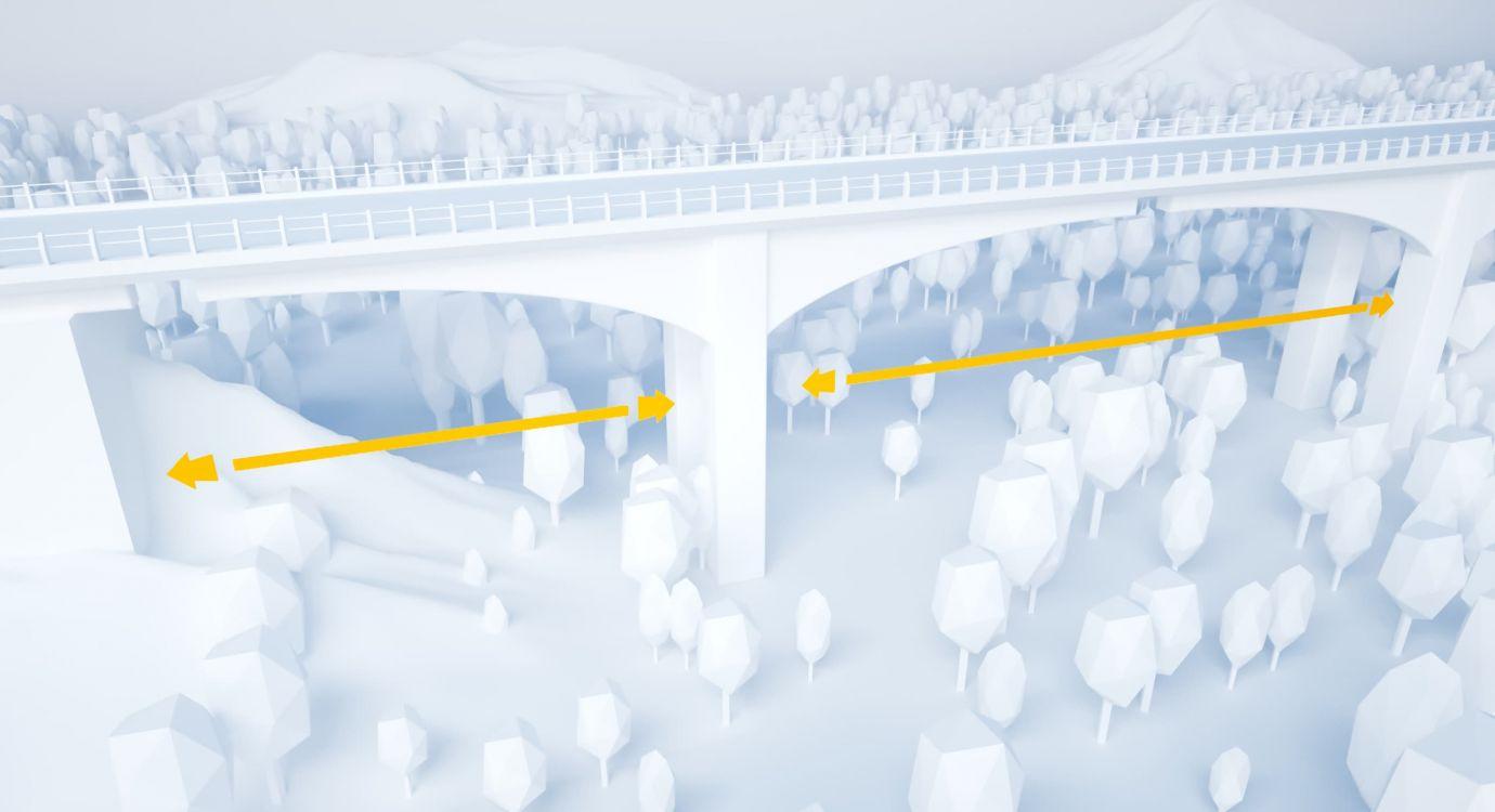 Illustration glossaire APRR : Travée d'un pont