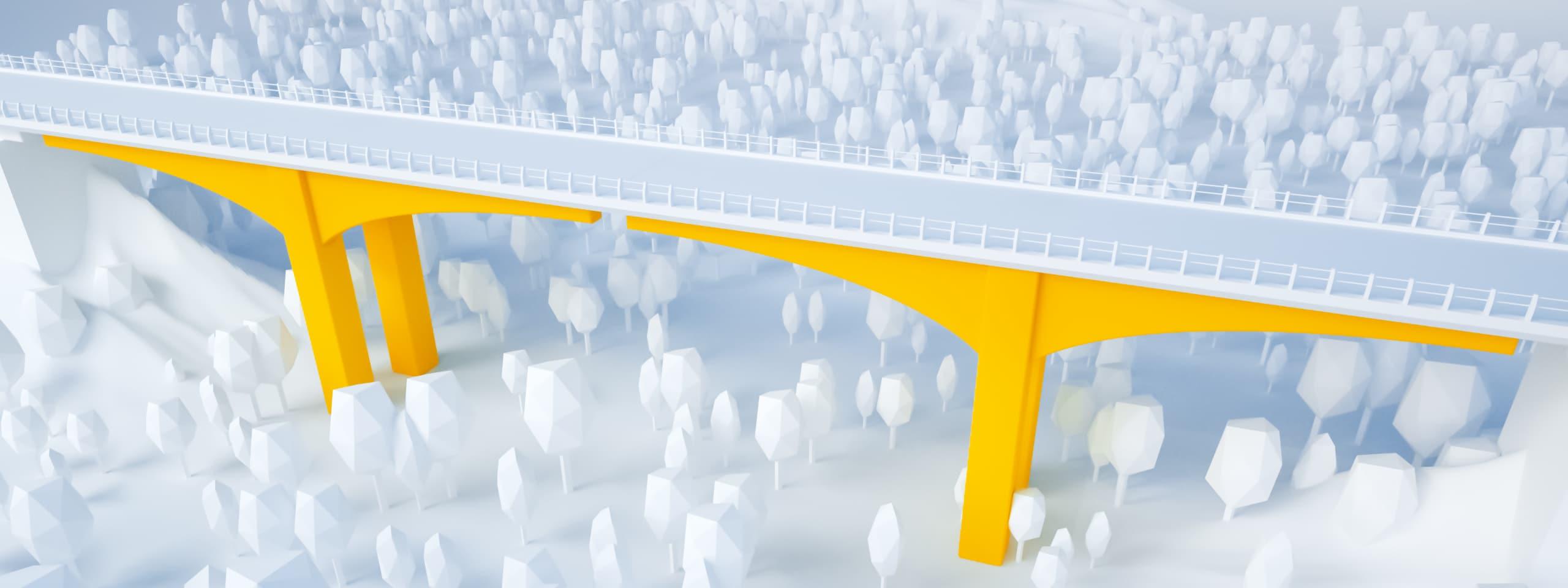 Illustration glossaire APRR : Piles de pont
