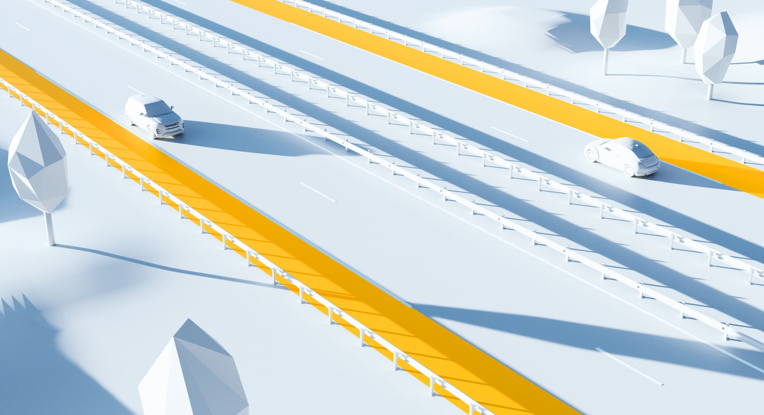 Illustration 3D : bande d'arrêt d'urgence