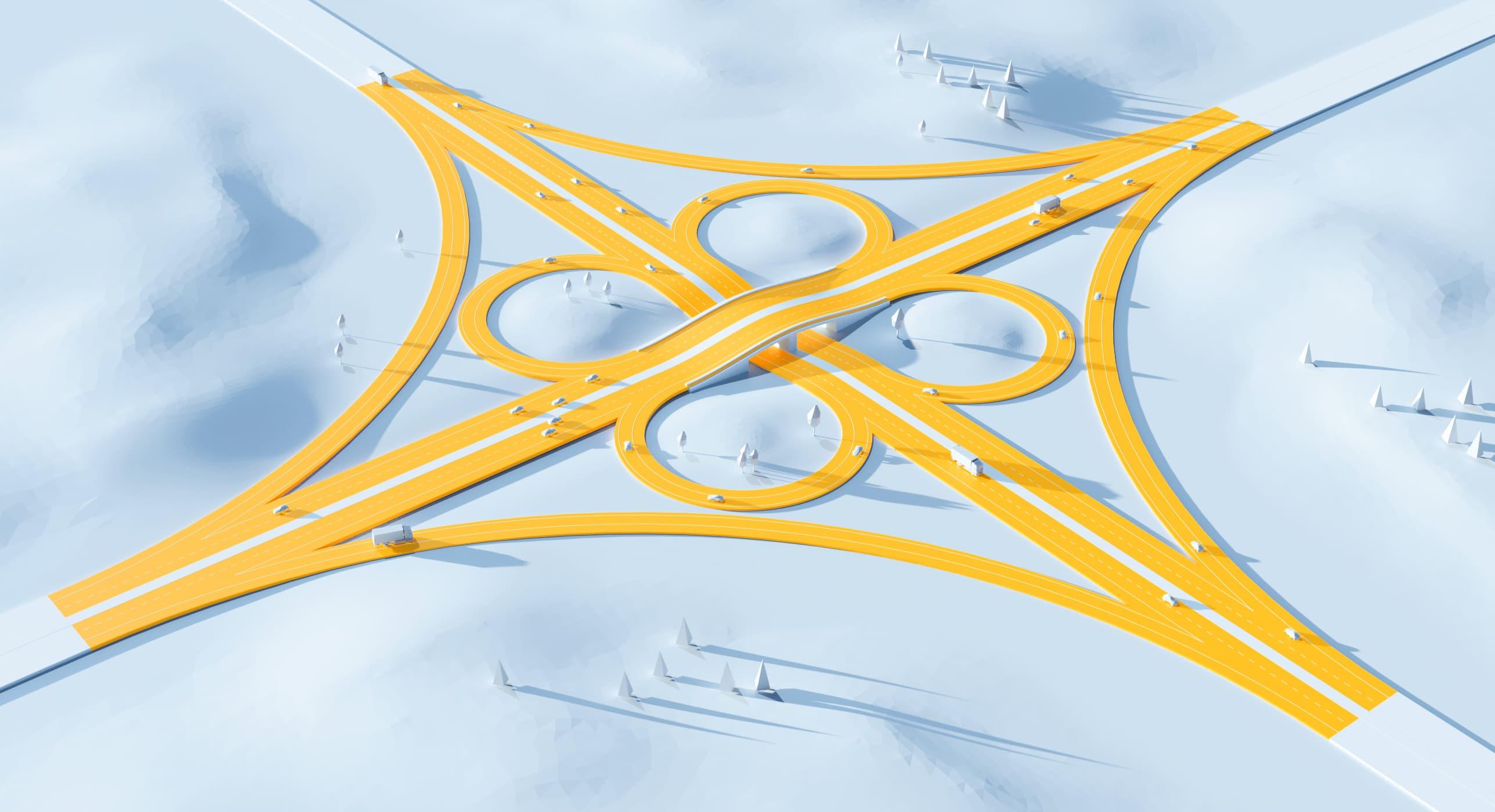 Illustration 3D : échangeur